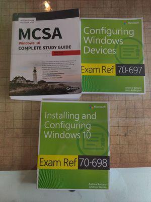 Microsoft Windows 10 MCSE/MCSA/MCP study guides for Sale in Mountlake Terrace, WA