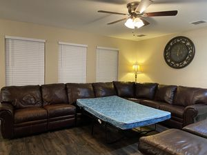 Sectional with fold out bed for Sale in Little Elm, TX