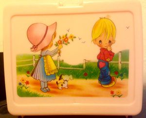 """PRECIOUS MOMENTS """"PINK"""" LUNCH BOX (EUC) for Sale in Madeira Beach, FL"""