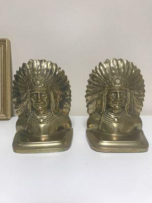 Vintage brass Native American bookends for Sale in Deerfield Beach, FL