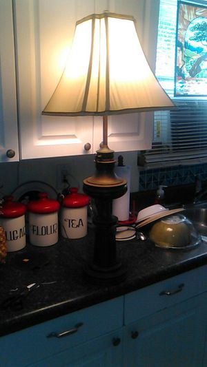 Brass lamp and shade for Sale in Port Charlotte, FL