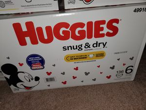 Huggies Snug & Dry size 6 136 count box for Sale in San Diego, CA