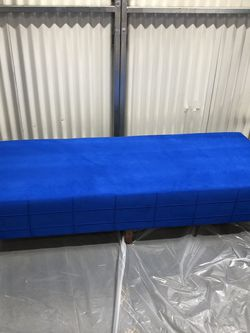 Metal Frame With Foam Seat Large Ottoman Sofa Lounge - Rams, Dodgers LA Blue $150 for Sale in South Gate,  CA