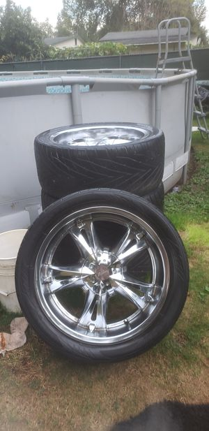20inch Millani wheels abd tires ,* *nice set** for Sale in Lake Stevens, WA