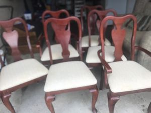 6 chairs for dinner table good quality for $60 for Sale in Dublin, OH