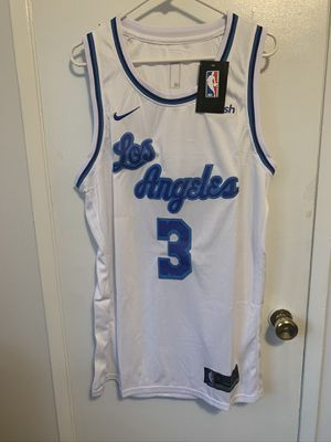 Anthony Davis #3 white Los Angeles lakers cursive jersey for Sale in Los Angeles, CA