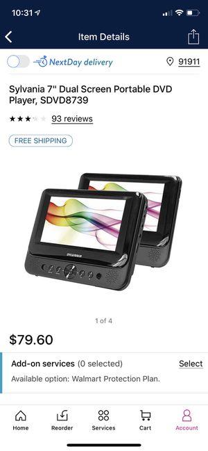 "Sylvania 7"" dual screen portable dvd player. for Sale in Chula Vista, CA"