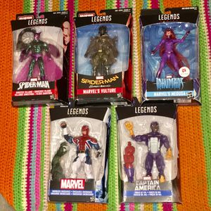 Lot 5 NEW SPIDERMAN MARVEL CAPTAIN AMERICA Action Figure LEGEND SERIES •• Look MORE HOT TOY here •• for Sale in Las Vegas, NV
