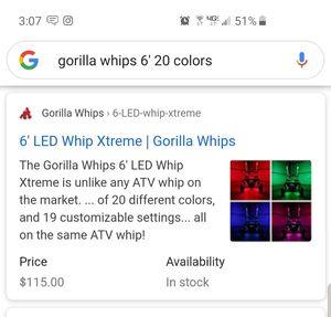 Gorilla whips for Sale in Ramona, CA