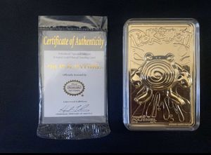 23K Gold Plated Pokemon Card #61 Poliwhirl COLLECTABLE for Sale in North Las Vegas, NV