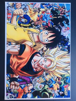 Anime One piece dragon ball poster for Sale in Lawndale, CA