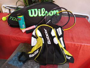 Wilson tour tennis bag, 2 tennis rackets , babolat bag for Sale in San Diego, CA