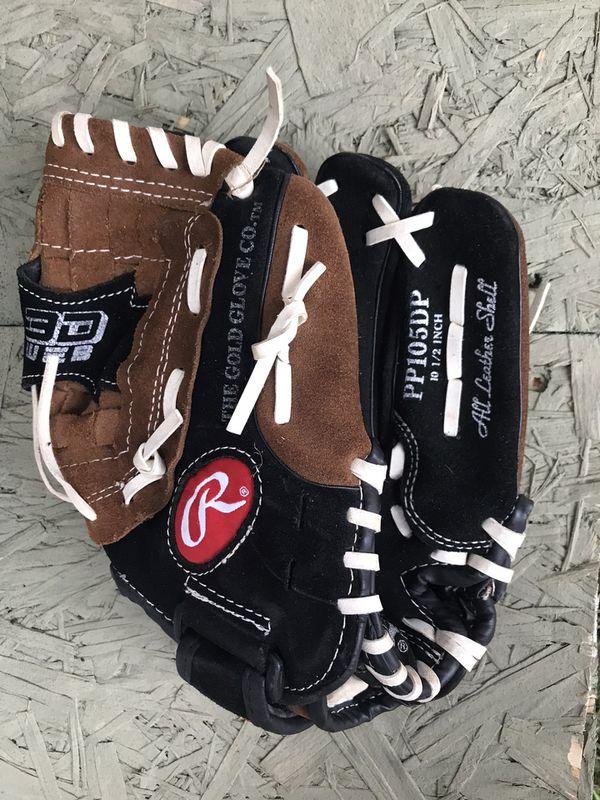 """Rawlings 10.5"""" kids baseball mitt glove youth"""