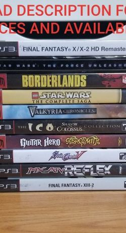 PS3 GAMES, WORKS FINE, READ DESCRIPTION FOR PRICES AND AVAILABILITY for Sale in Santa Ana,  CA