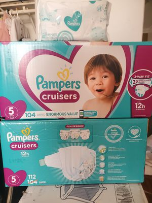 Pampers cruisers size 5 trade for 7 cans of enfamil or $75 for bundle for Sale in Perris, CA