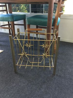 Mid Century Star Burst Magazine Rack Album Rack for Sale in Delphos, OH