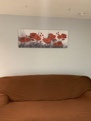 Abstract oil painting on canvas wall art 48x16 for Sale in Manchester, MO