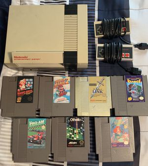Nintendo Entertainment System w/7 games for Sale in Beaufort, SC