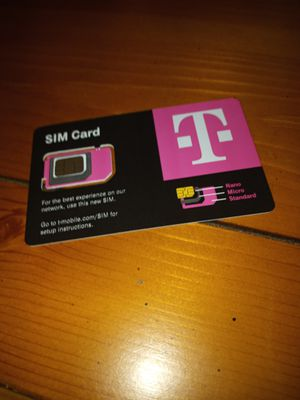 T-mobile sim card for Sale in Los Angeles, CA