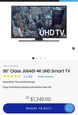 Samsung Smart 4K tv 50 inch. Ultra HD. for Sale in Falls Church, VA