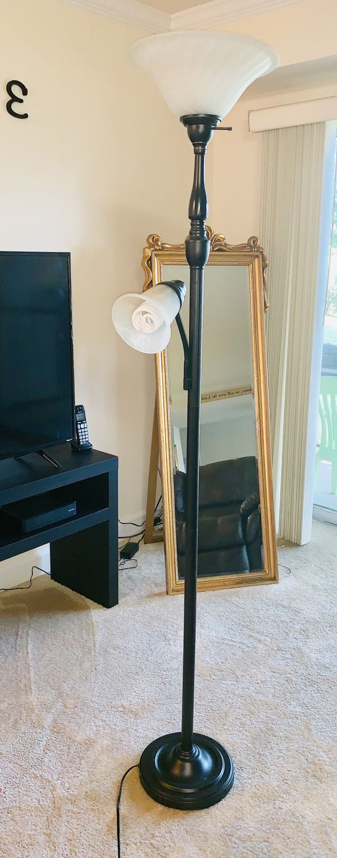 Dark Brown Floor Lamp Excellent Condition