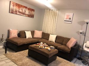 Sectional sofa couch+ottoman for Sale in Fort Meade, MD