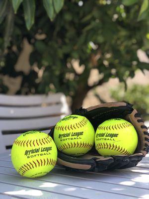 Rawlings Baseball Glove including 3 Rawlings Softballs for Sale in Santa Ana, CA
