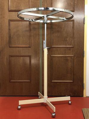 "Revolving Round Clothing Rack with Wheels 36"" diameter for Sale in Boynton Beach, FL"