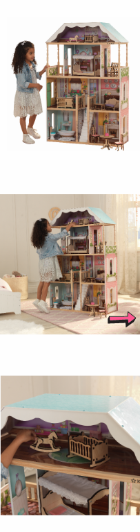 NEW Dollhouse Kids Playhouse Toy Furniture Girls Miniature Girls Kit Play Wooden Classic Large Children Playroom Daughter Accessory *↓READ↓* for Sale for sale  Chula Vista, CA