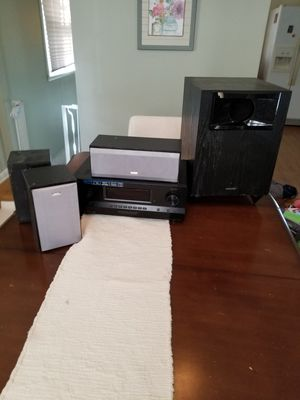 5.1 Sony STR-DH510 5.1-Channel Home Theater Receiver, JVC ss, Onkyo bass amp. amazing sound for Sale in Nashville, TN