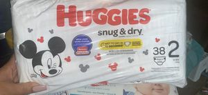 Size 2 Only !!! 16 bags available huggies for Sale in Alexandria, VA