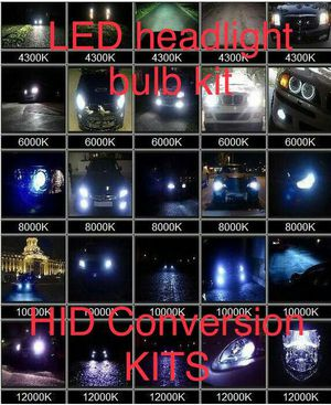 HID conversion kit- led headlight lights bulb kit- direct fitment replacement part - 9006 h11 h13 h4 Chevy equinox SilverAdo tahoe gmc sierrA yukon for Sale in Phoenix, AZ