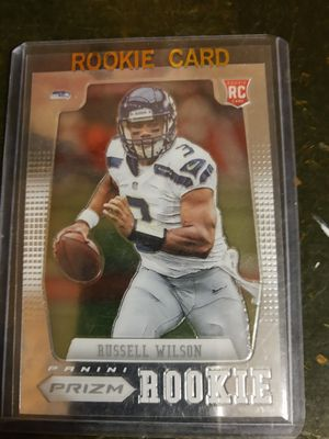Russell Wilson Rookie Panini Prizm #230 towel down for Sale in Roy, WA