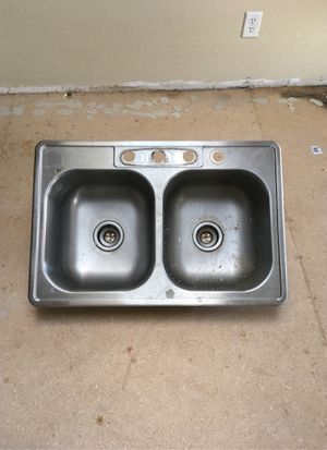 Double Sink with baskets for Sale in South Hill, WA