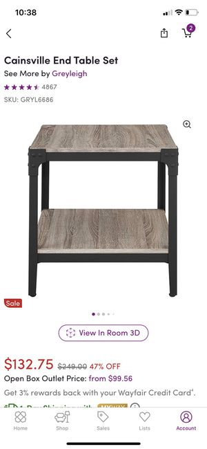 2 side tables for Sale in Shrewsbury, MA
