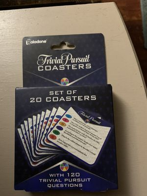 Trivial pursuit coasters 20 ct for Sale in Fresno, CA