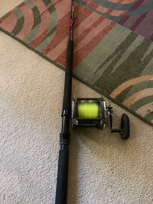 Kunnan fishing pole big game and reel for Sale in Seattle, WA