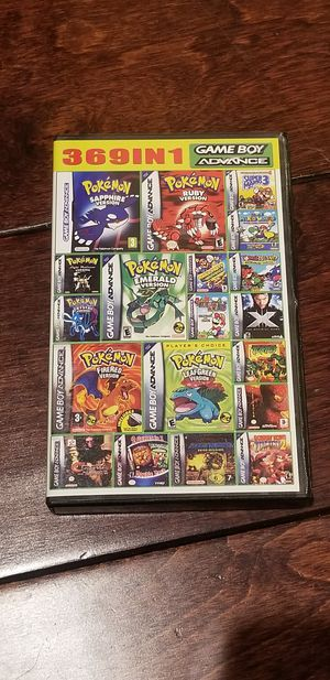 369 games in 1 nintendo gameboy advance for Sale in Westminster, CA