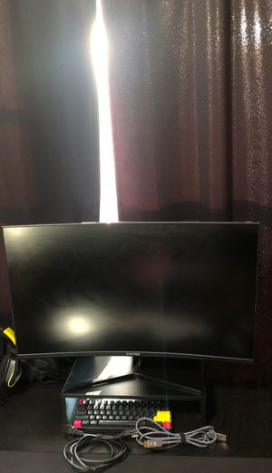 "32"" 1440p 144hz Gaming Monitor with free cables and a riser for Sale in Hillsboro, OR"