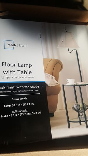 Mainstays floor lamp with table for Sale in Madison Heights, MI