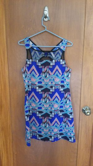 Size medium blue patterned dress for Sale in Lakewood, OH