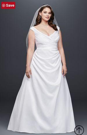 OFF-THE-SHOULDER V-NECK WEDDING DRESS for Sale in Tolleson, AZ