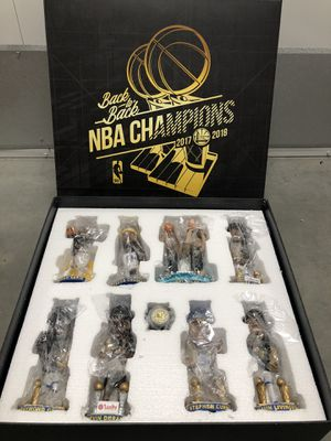 Golden State Warriors 2017-18 Back to Back NBA Champions Complete Bobblehead Set for Sale in Hayward, CA
