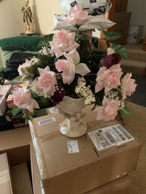 Very nice faux Designer flowers with Quality pots ! $10 a piece for Sale in Hampton, VA