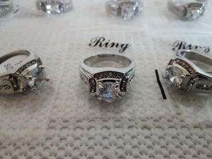 Silver Plated Rings for Men Wedding Engagement Cubic Zirconia Diamond Men's Ring for Sale in San Diego, CA