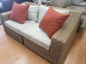 New outdoor patio furniture loveseat tax included sunbrella fabric for Sale in Hayward, CA