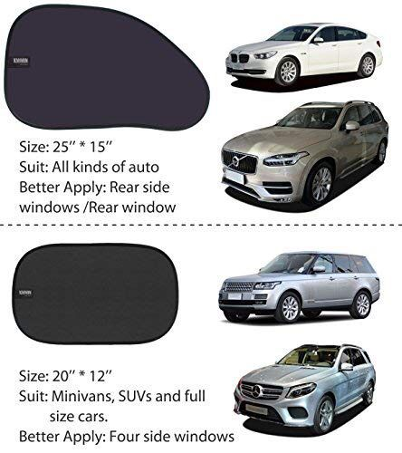Car Window Shade, Auto Sunshade for Blocking UV Ray and Protecting Kids Pets with Easy Installation and Good Cooling Match 18 X 15 inches (25 X 15 &