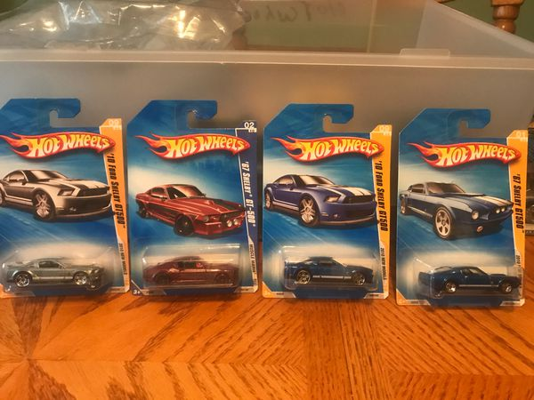 Hot wheels ( 6 ) '67 Shelby GT-500 #78 * Burgundy * 2009 Hot Wheels REGULAR Card * S32 .. (1 ) .. '07.. Ford Shelby .G.T .500 .. ( 2 ) .. '10 Ford S