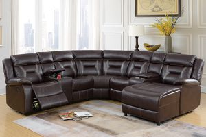 Dark Brown Sectional for Sale in Banning, CA
