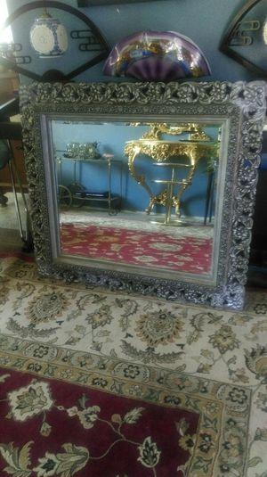 Large wood Mirror Silver black for Sale in Orange, CA